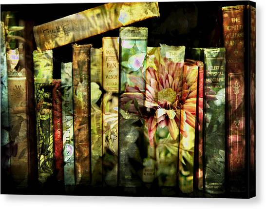 Evie's Book Garden Canvas Print