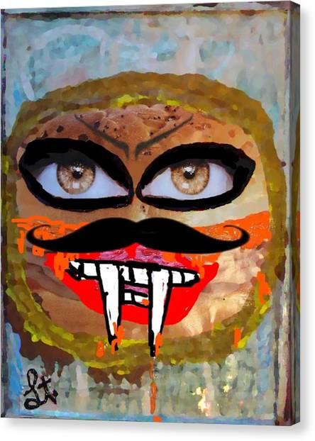 Evil Cheese Sandwhich Canvas Print