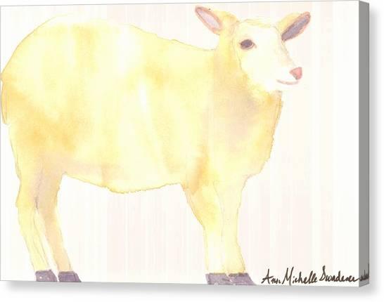 Ewe's Not Fat Ewe's Fluffy Canvas Print