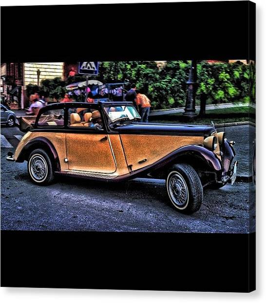 Interstates Canvas Print - #ex_car #hdr #hdr_pics #oldcars by Alexandr Dobrovan