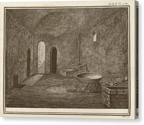 Mount Vesuvius Canvas Print - Excavated Room At Pompeii by Middle Temple Library