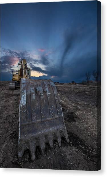 Blending Canvas Print - Excavator 2 by Aaron J Groen