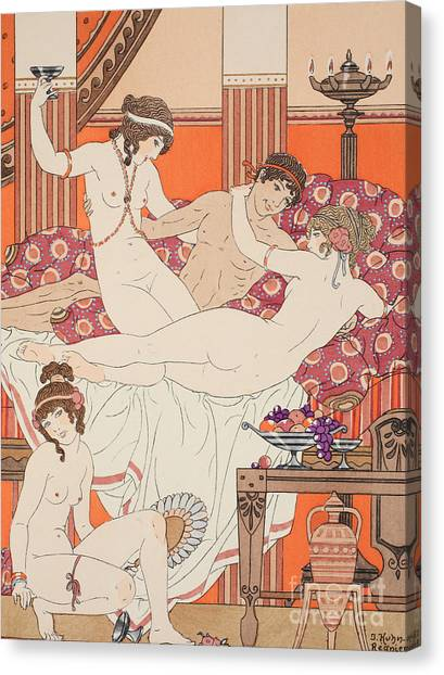 Love Making Canvas Print - Excess Of Wine And Women by Joseph Kuhn-Regnier