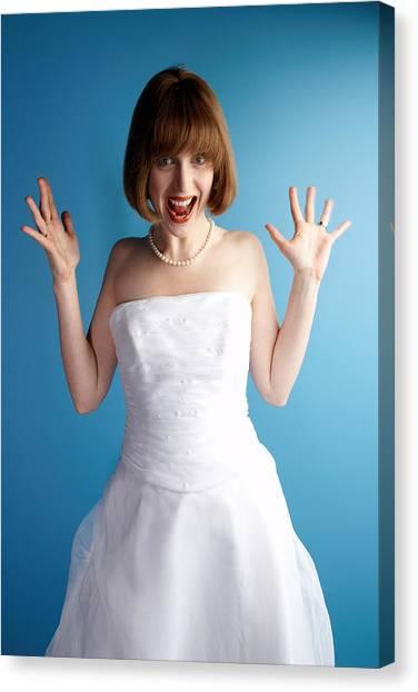 Excited Bride Canvas Print by Jupiterimages