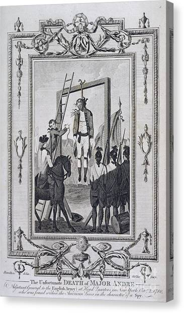 Impartial Canvas Print - Execution Of Major Andre by British Library