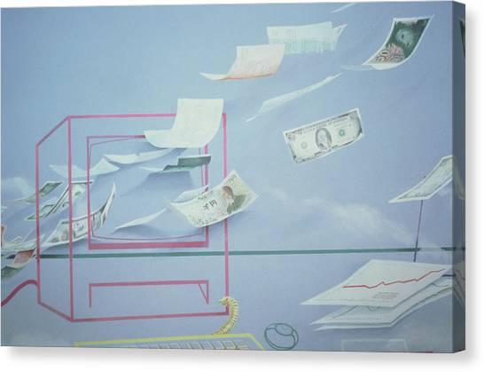 Yen Canvas Print - Executive Money I by Lincoln Seligman