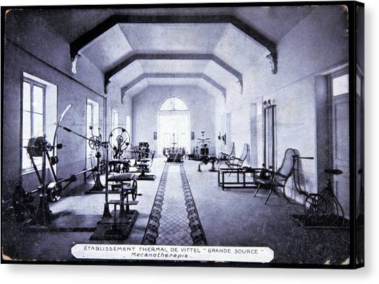 Exercise Room At A Spa Canvas Print by Cci Archives/science Photo Library