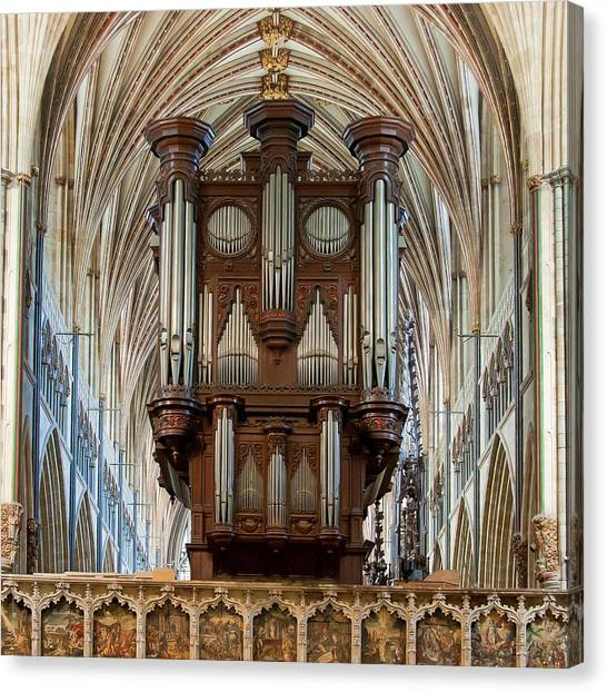 Exeter's King Of Instruments Canvas Print