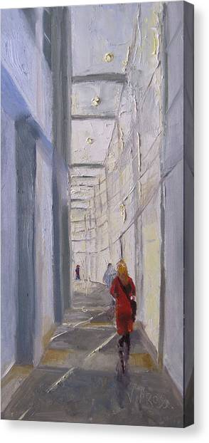 Exhibition Hallway Late Afternoon Canvas Print