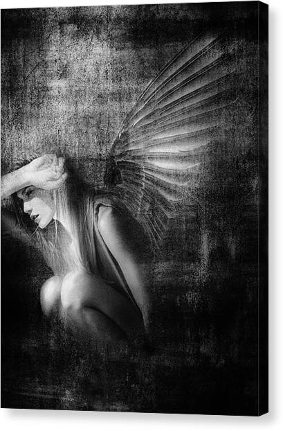 Winged Canvas Print - Exile by Jeffrey Hummel