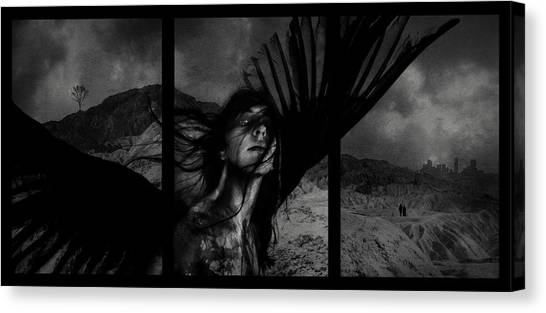 Satan Canvas Print - Exile by Cambion Art