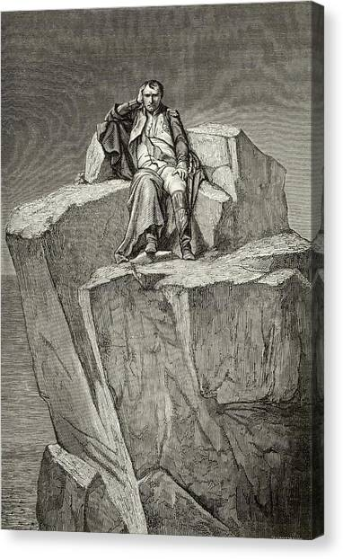 Exiled On Saint Helena, He  Chooses Canvas Print by Mary Evans Picture Library