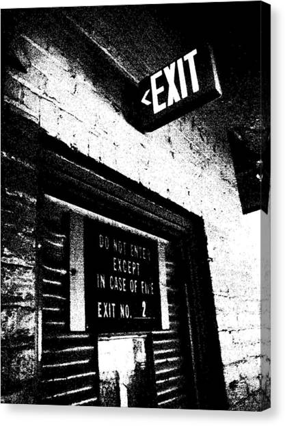 Exit Number Two Canvas Print