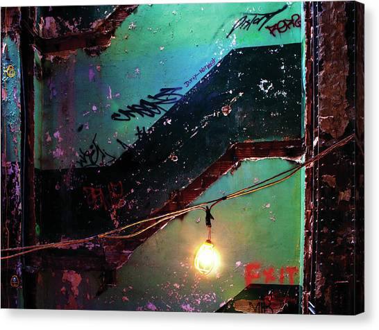Graffiti Walls Canvas Print - Exit by Patricia Sweeney