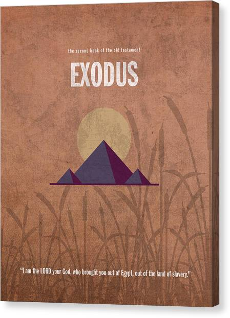 Old Testament Canvas Print - Exodus Books Of The Bible Series Old Testament Minimal Poster Art Number 2 by Design Turnpike