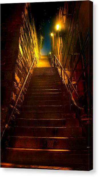 The Exorcist Canvas Print - Exorcist Stairs by Mark Andrew Thomas