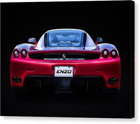 Ferrari Canvas Print - Exotic Ferrari Enzo by Douglas Pittman