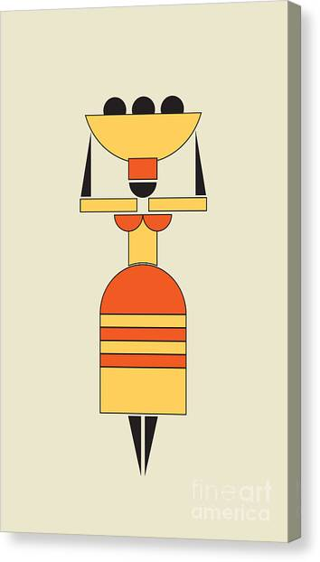 Suprematism Canvas Print - Exotic Woman Carrying Food On The Head  by Igor Kislev