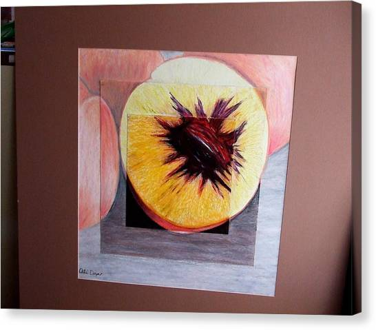 Expanding Peach Canvas Print by Ali Dover