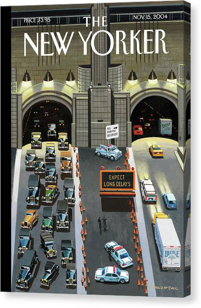 Expect Long Delays Canvas Print by Bruce McCall