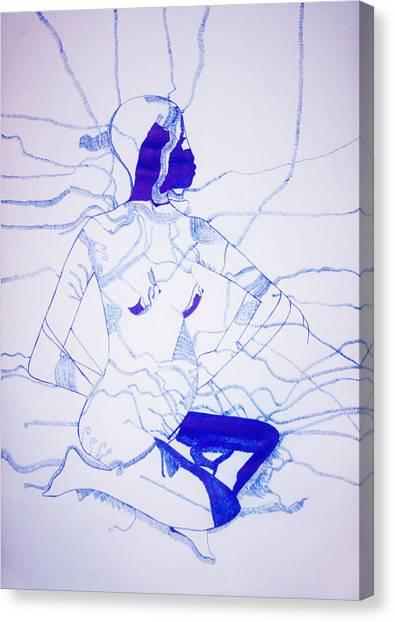 Gloria Canvas Print - Expecting by Gloria Ssali