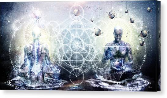 Ancient Art Canvas Print - Experience So Lucid Discovery So Clear by Cameron Gray
