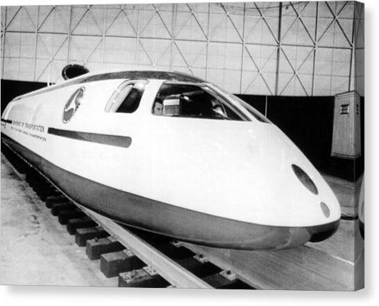 Bullet Trains Canvas Print - Experimental High Speed Train by Underwood Archives
