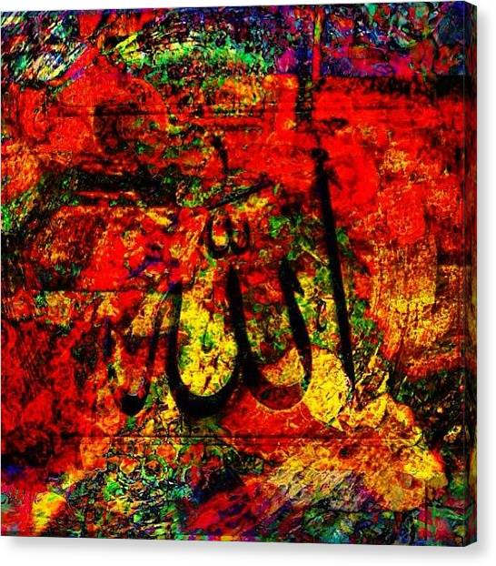Islamic Art Canvas Print - Experimenting With #islamic #art by Ahmed Salahuddin