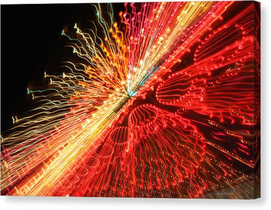 Exploding Neon Canvas Print