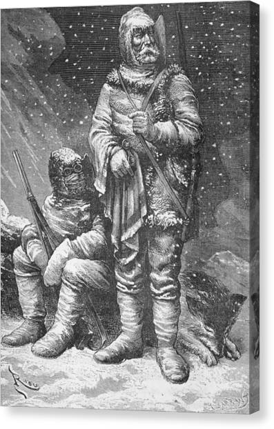 Harsh Conditions Canvas Print - Exploration Costumes by Charles Barbant