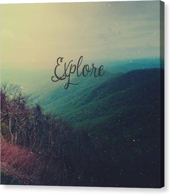 Word Art Canvas Print - Explore by Olivia StClaire