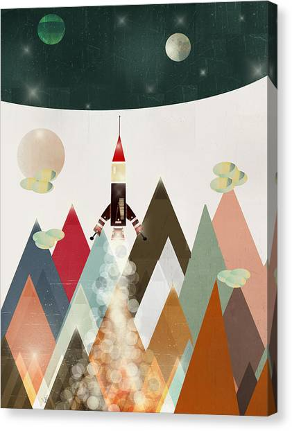 Space Ships Canvas Print - Explorer by Bri Buckley