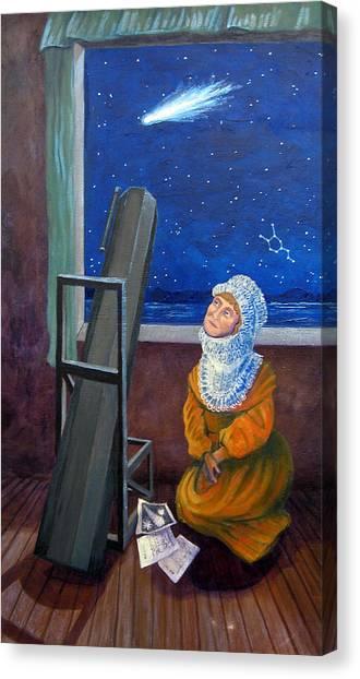 Explorer Of Stars - Caroline Herschel Canvas Print