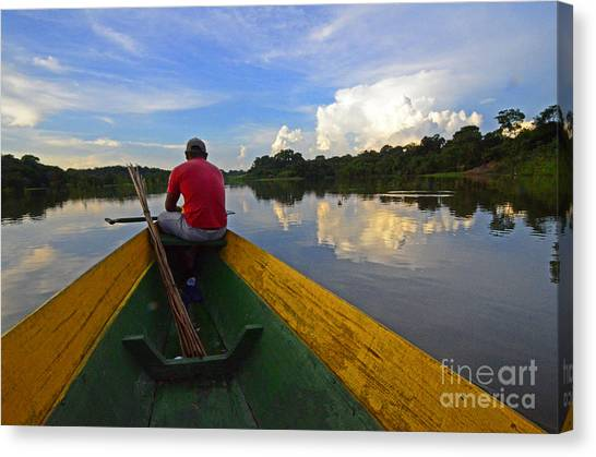 Amazon River Canvas Print - Exploring Amazonia by Bob Christopher