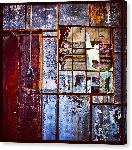 Warehouses Canvas Print - Exploring Rust #photowall #picoftheday by Visions Photography by LisaMarie