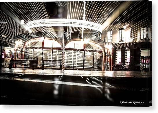 Canvas Print featuring the photograph Explozoom On A French Carousel by Stwayne Keubrick