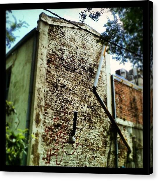 Warehouses Canvas Print - Exposed Brick, #nola by Glen Abbott