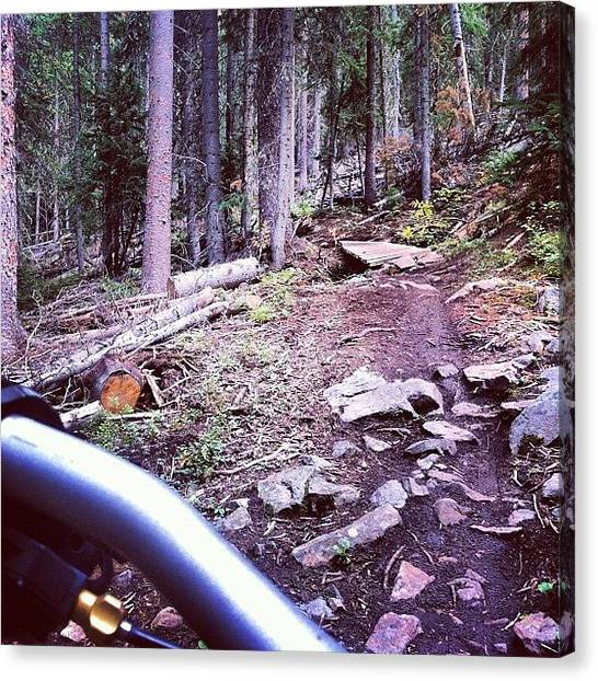 Mtb Canvas Print - #expresso Had Some Rocks.. Staaaahp by Andrew Wilz