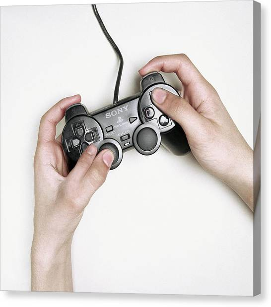 Playstation Canvas Print - Extra Finger by Larry Dunstan/science Photo Library