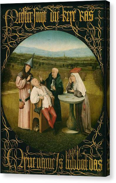The Prado Canvas Print - Extracting The Stone Of Madness by Hieronymus Bosch