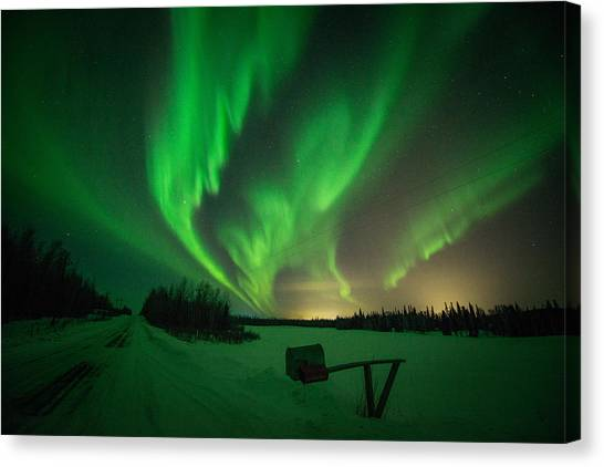 Extreme Aurora Activity Salcha Canvas Print