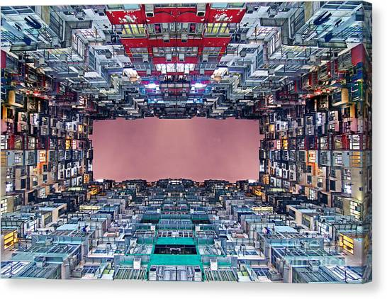 Hong Kong Canvas Print - Extreme Housing In Hong Kong by Lars Ruecker