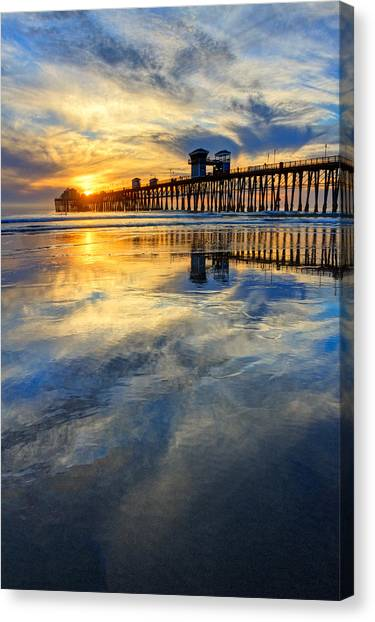 Canvas Print - Extreme Low Tide Reflections  by Donna Pagakis