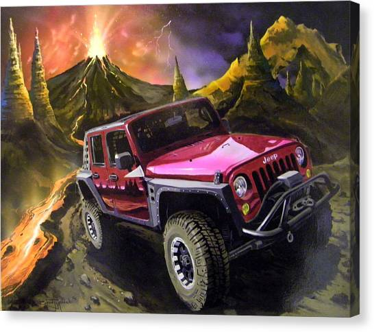 Extreme Off Roading Canvas Print