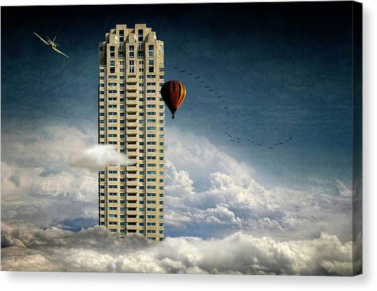 Skyscrapers Canvas Print - Extreme Skyscraper by Ben Goossens