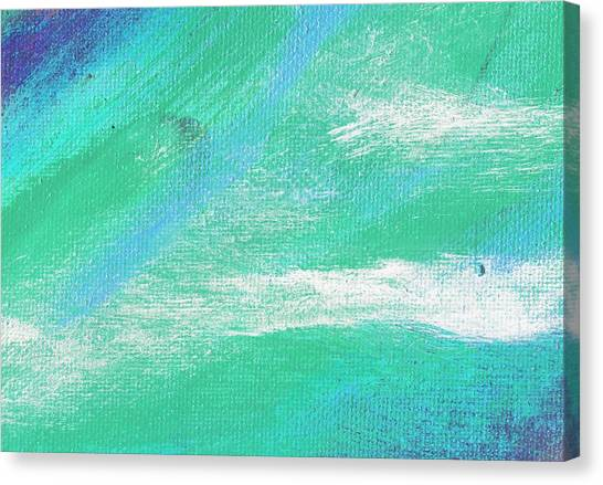 Exuberant Aqua Blue Valley Canvas Print by L J Smith