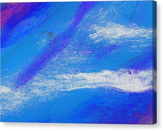 Exuberant Midnight Blue Canvas Print by L J Smith