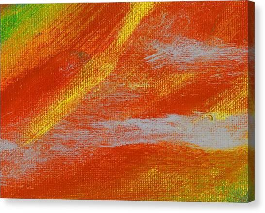 Exuberant Yellow Orange Canvas Print by L J Smith