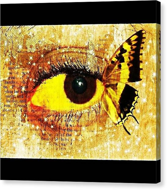 Edit Canvas Print - #eye #butterfly #brown #black #edit by Tatyanna Spears