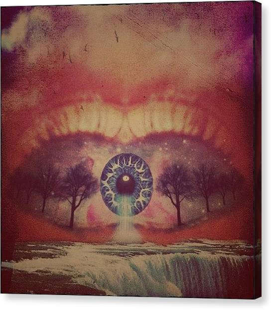 Edit Canvas Print - eye #dropicomobile #filtermania by Tatyanna Spears